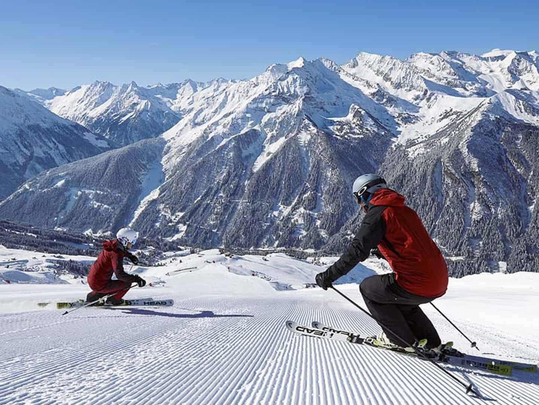 Skiferie i Zillertal, Østrig præparede pisterSkiferie i Zillertal, Østrig præparede pister