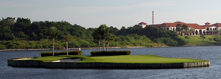 Amata golfbanen i Thailand her hul 17