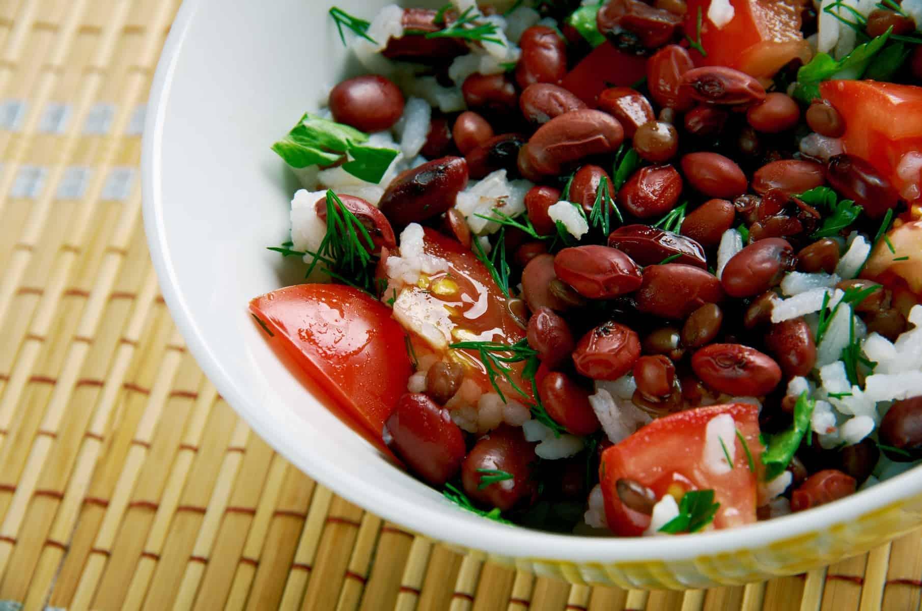 Gallo pinto - er også typisk for Costa Ricas proteinrige køkken og en nationalret i Nicaragua