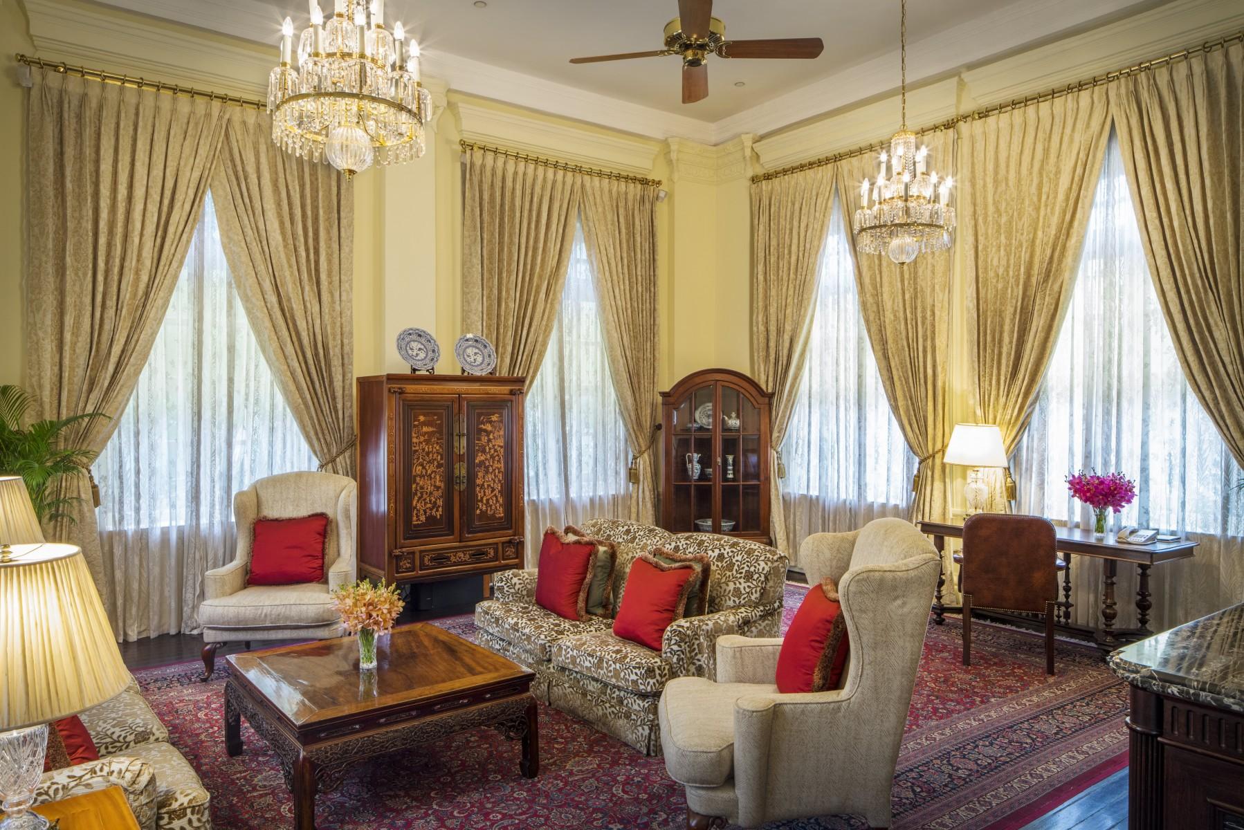Raffles Hotel Presidential-Suite-Living-Room
