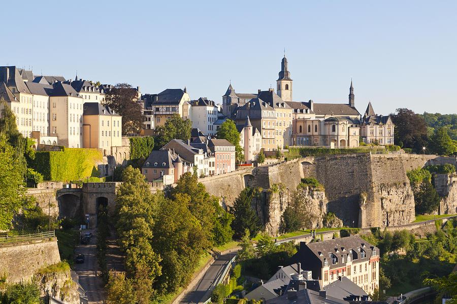 Chemin de la Corniche og Luxemburg view