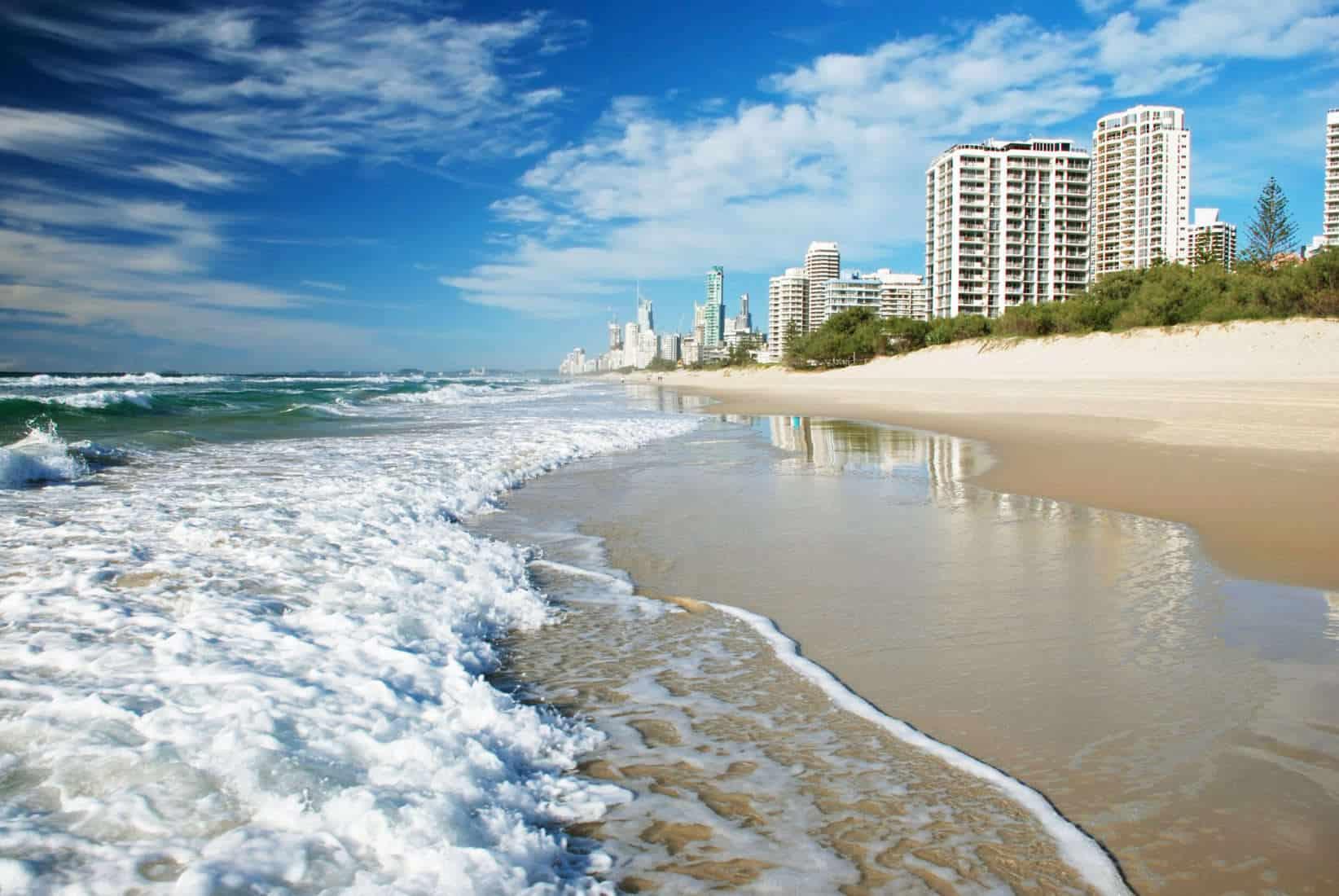 Surfers paradise beach, Goldcoast, Australia