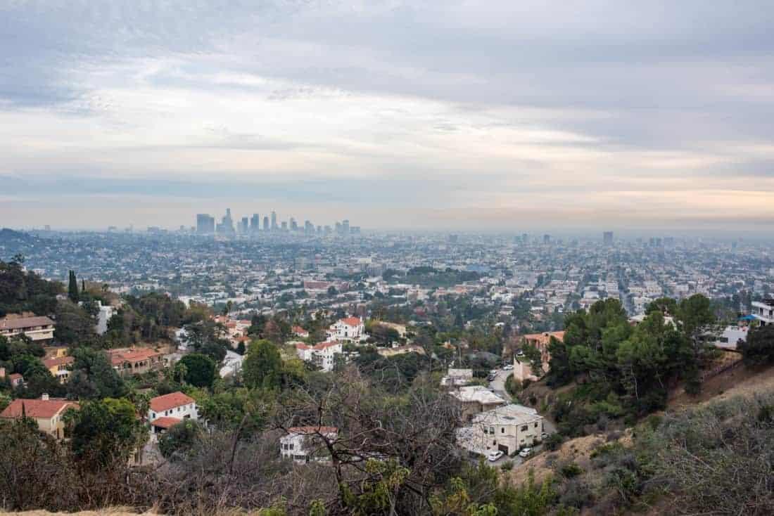 Los Angeles skyline og Griffith.