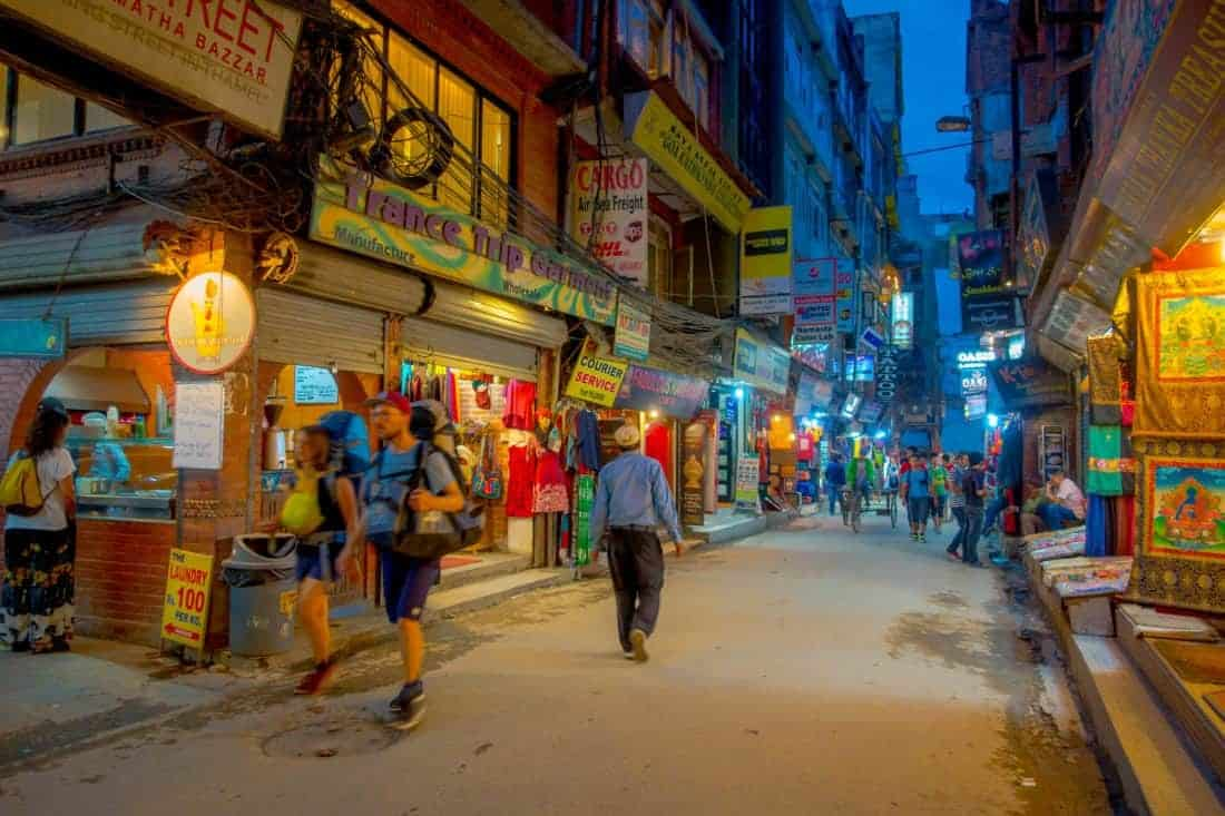 Thamel i Kathmandu, Nepal