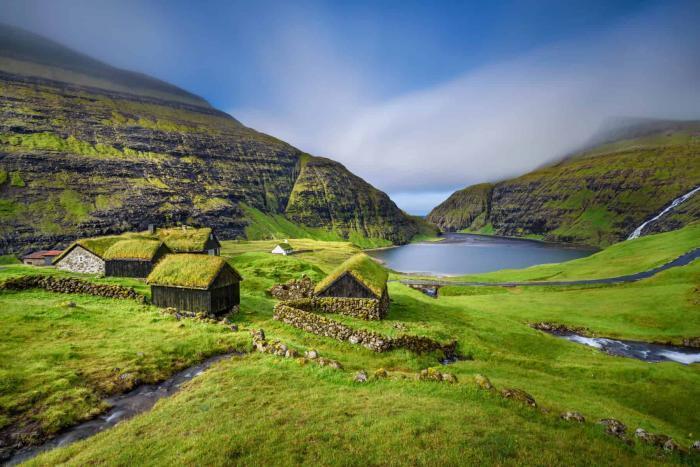 Saksun, landsby på Færøerne
