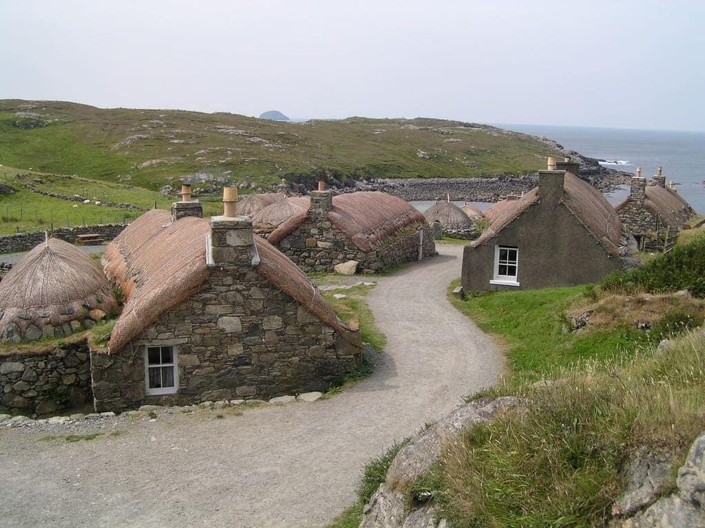 De 500 indre og Ydre Hebrider nordvest for Skotland