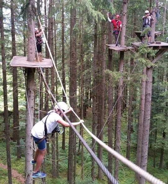 En dag som Tarzan i trækronerne i Wildschönau