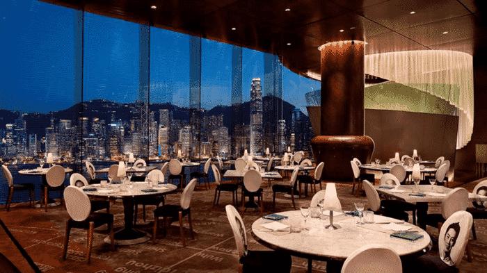 Felix, en af 9 top restauranter på Peninsula Tower Hotel i Hong Kong