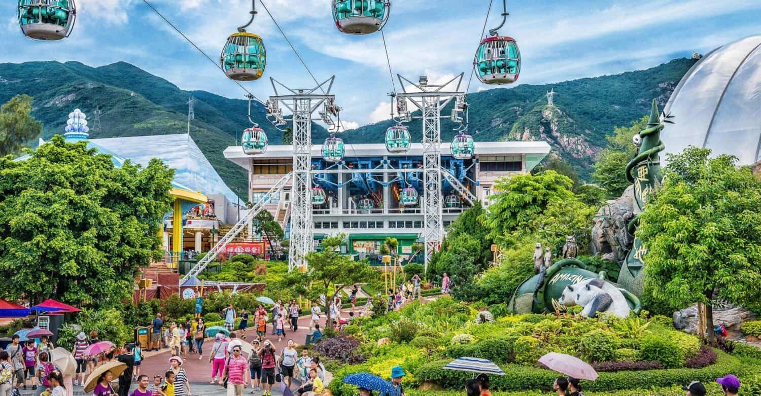 Oceanpark Hong Kong Cable CarStation