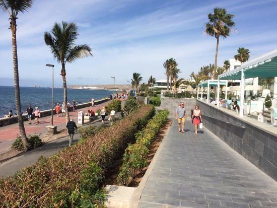 Gran Canaria. Melanores strandpromenade