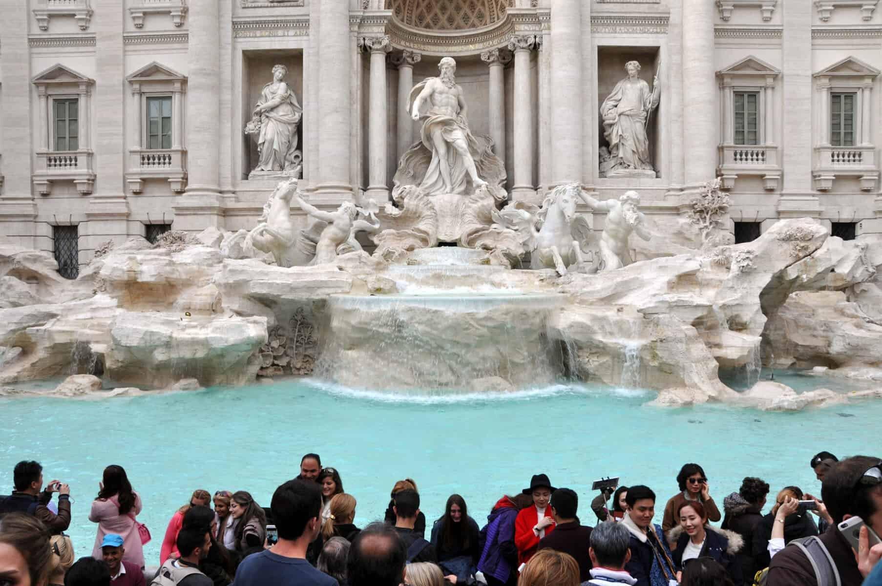 Trevi Fontænen Fontana di Trevi i Rom