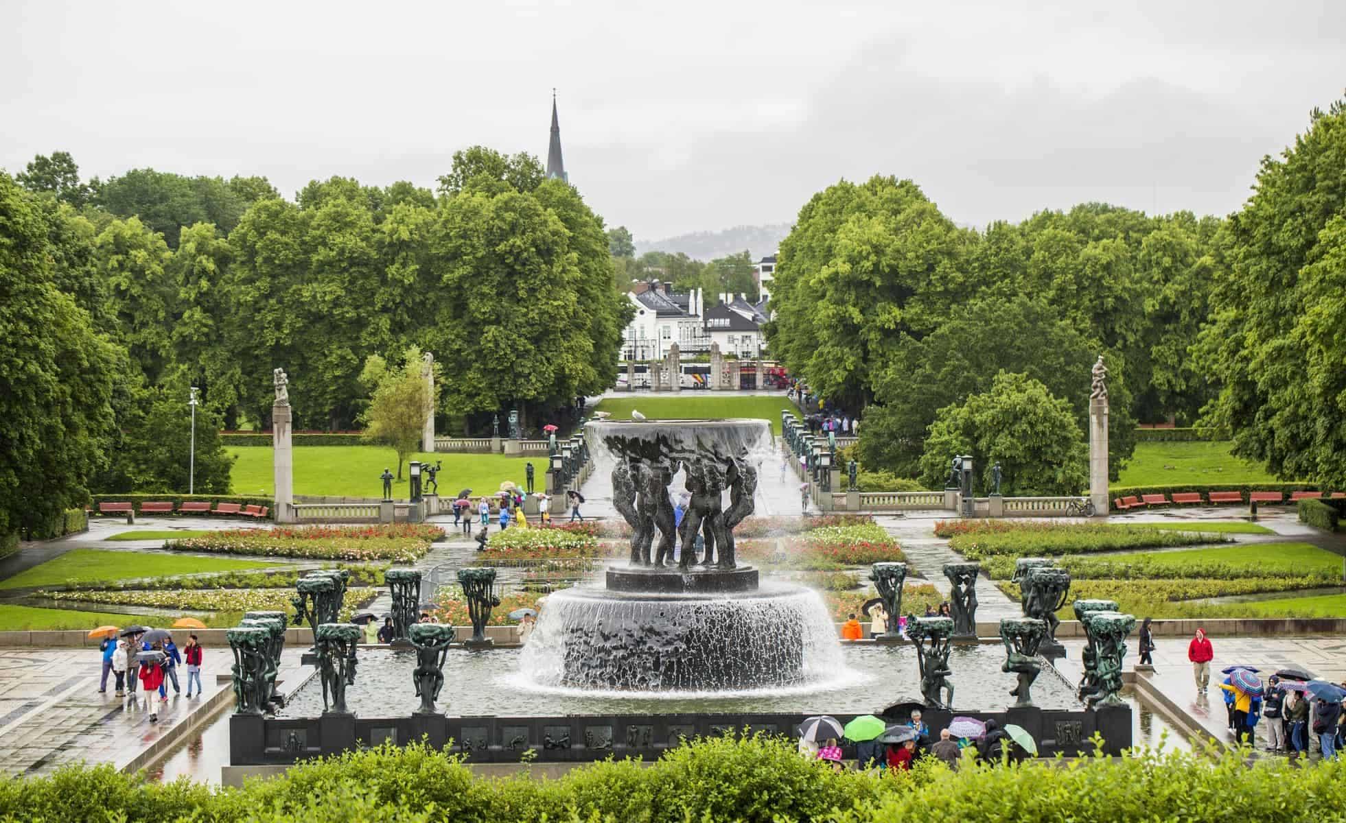 Vigeland Park. Frognerpark Oslo. Norway.