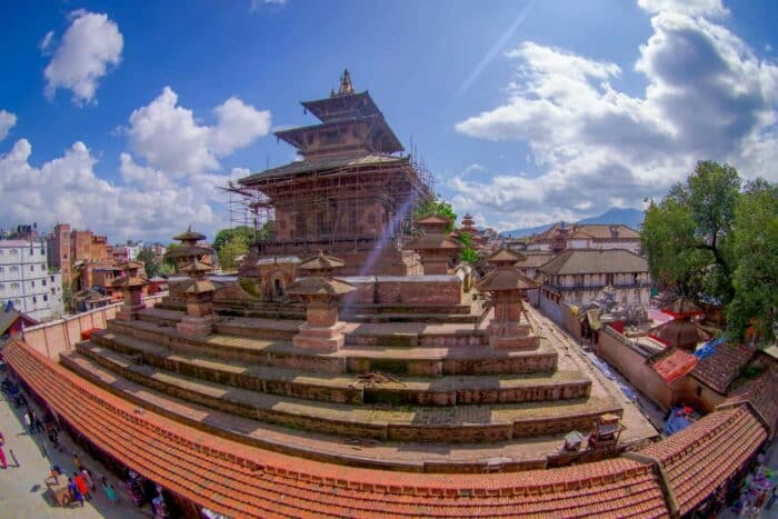 KATHMANDU Durbar Square near the old Indian temples