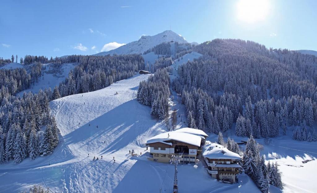 St. Johann i Tirol winterlandschaft