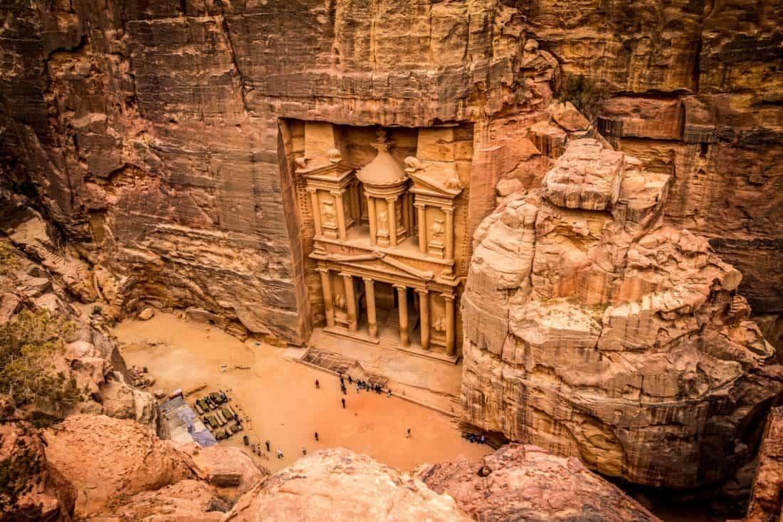 Besøg Jordans verdens vidunder Petra Jordans mest berømte