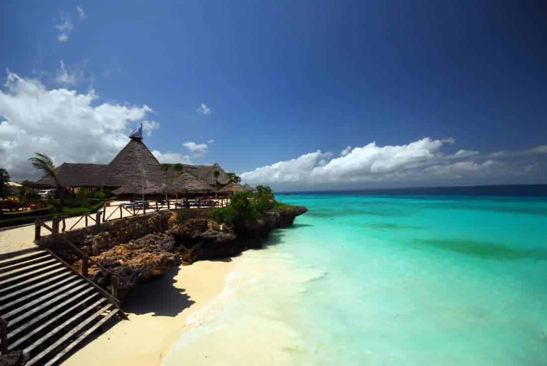 Zanzibar, Tanzania Africa, a resort on a beach
