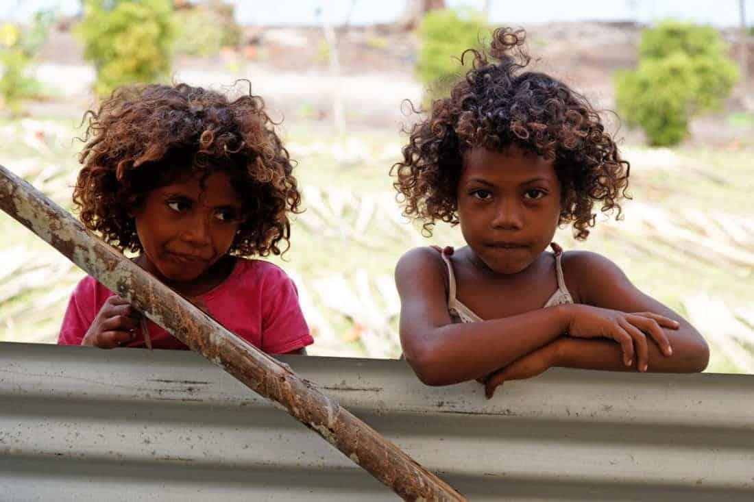 Melanesiske børn fra Papua New Guinea