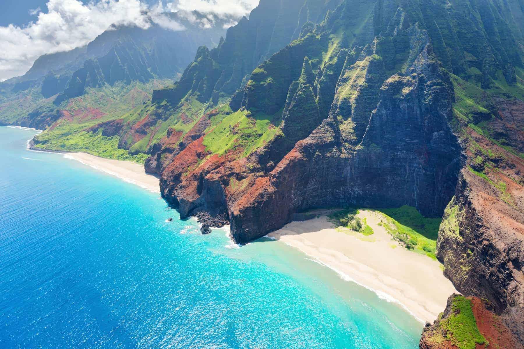 Na Pali kysten på Kauai island på Hawaii endnu en smuk dag