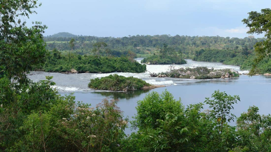 Nilen nær Jinja i Uganda