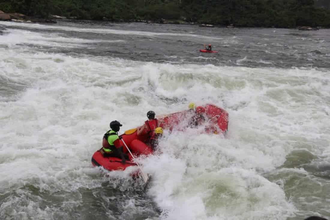 Riverrafting og Bungy jump i Nilen in Jinja Uganda