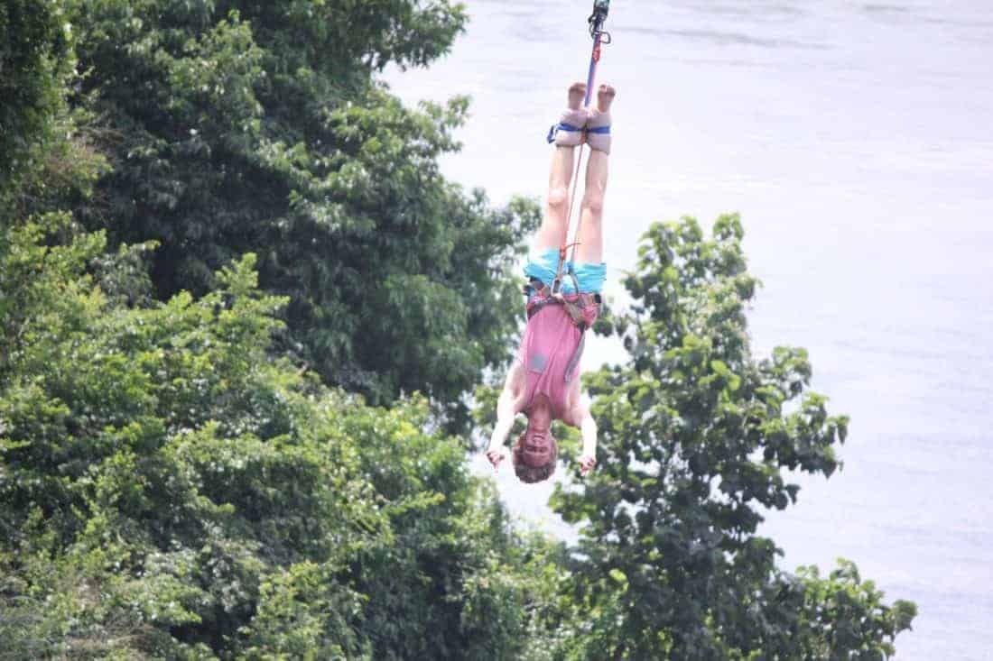 bungee jumping for real in Uganda
