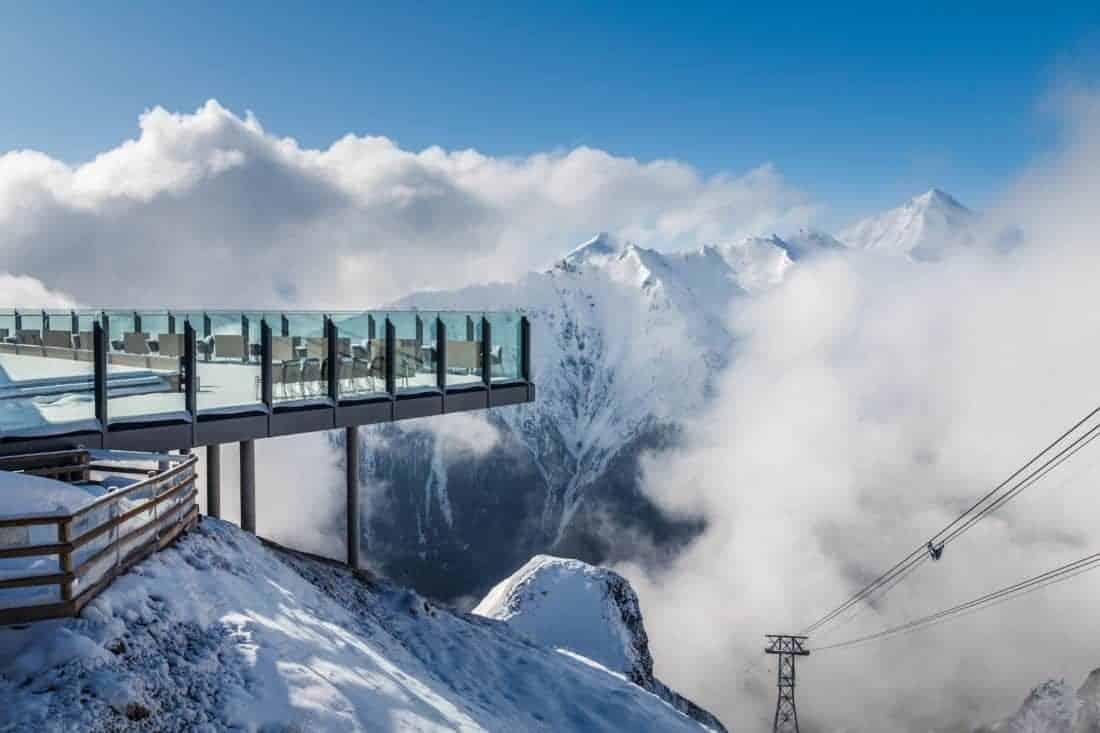 Samnaun ski terrasse