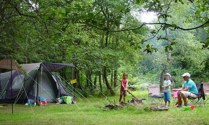 Camping i Frankrig på privat bondegård ude i naturen