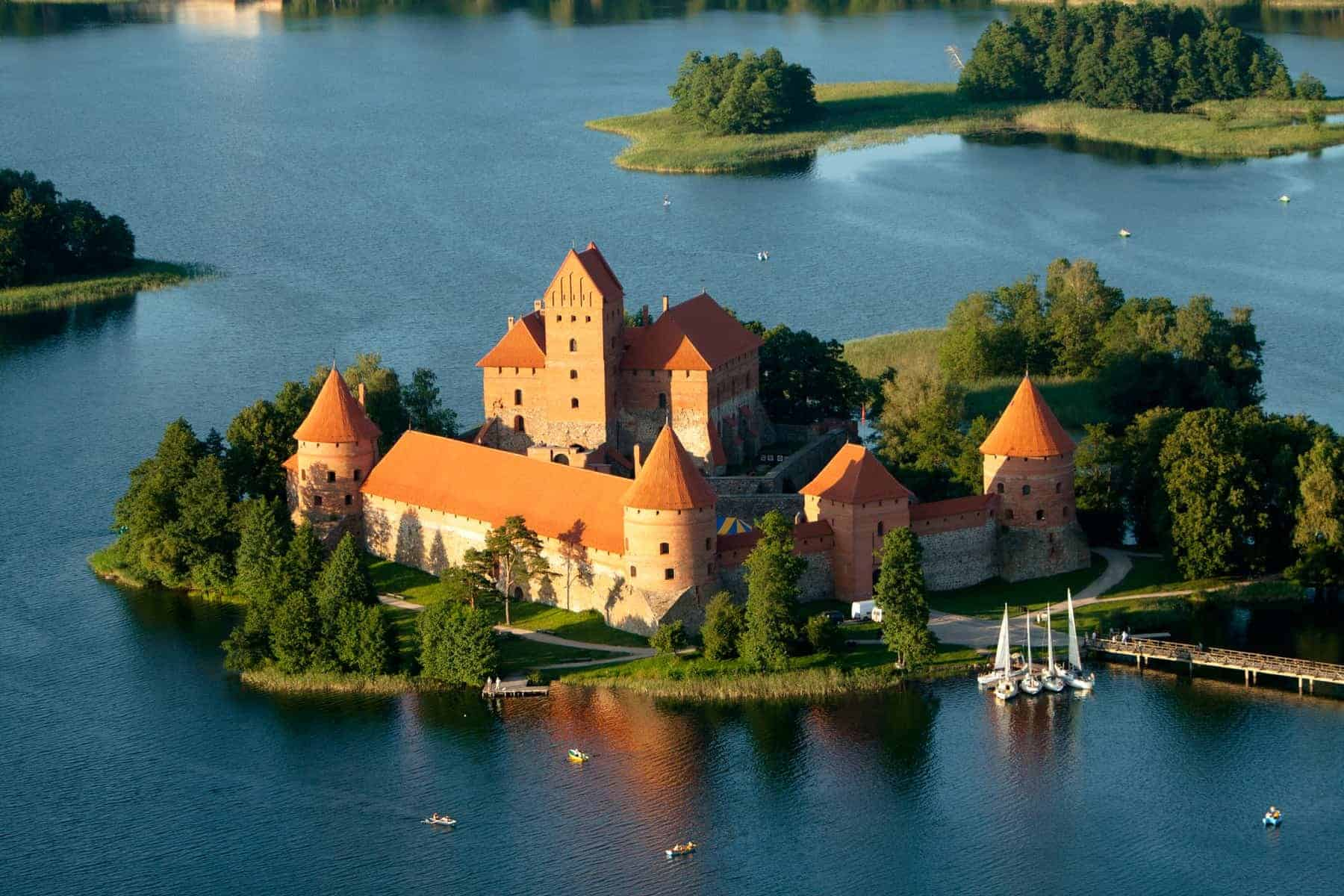 Trakai castle in Lithuania. History, historical