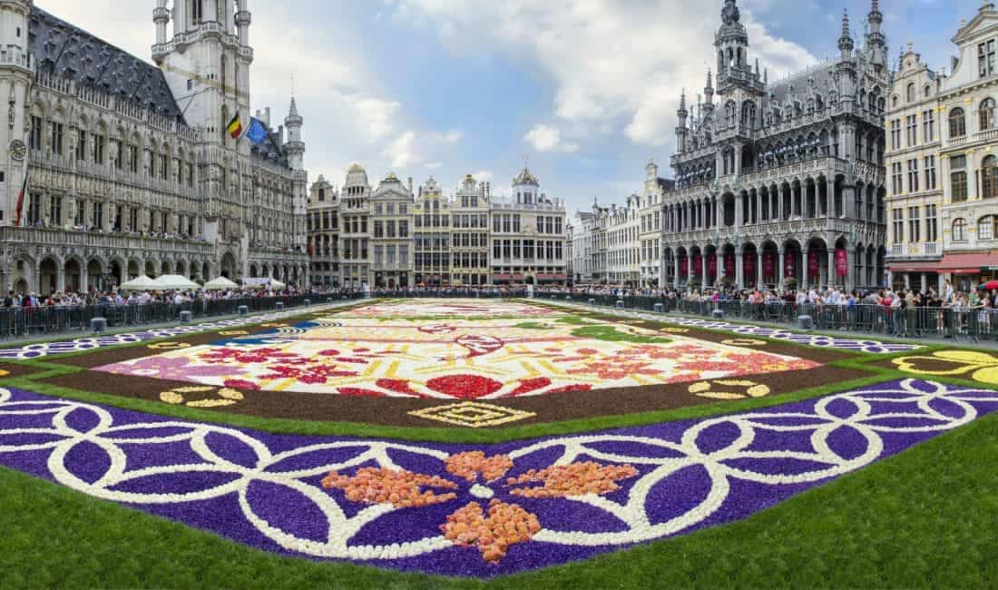 Bruxelles Grand Place 1 mill. begonia