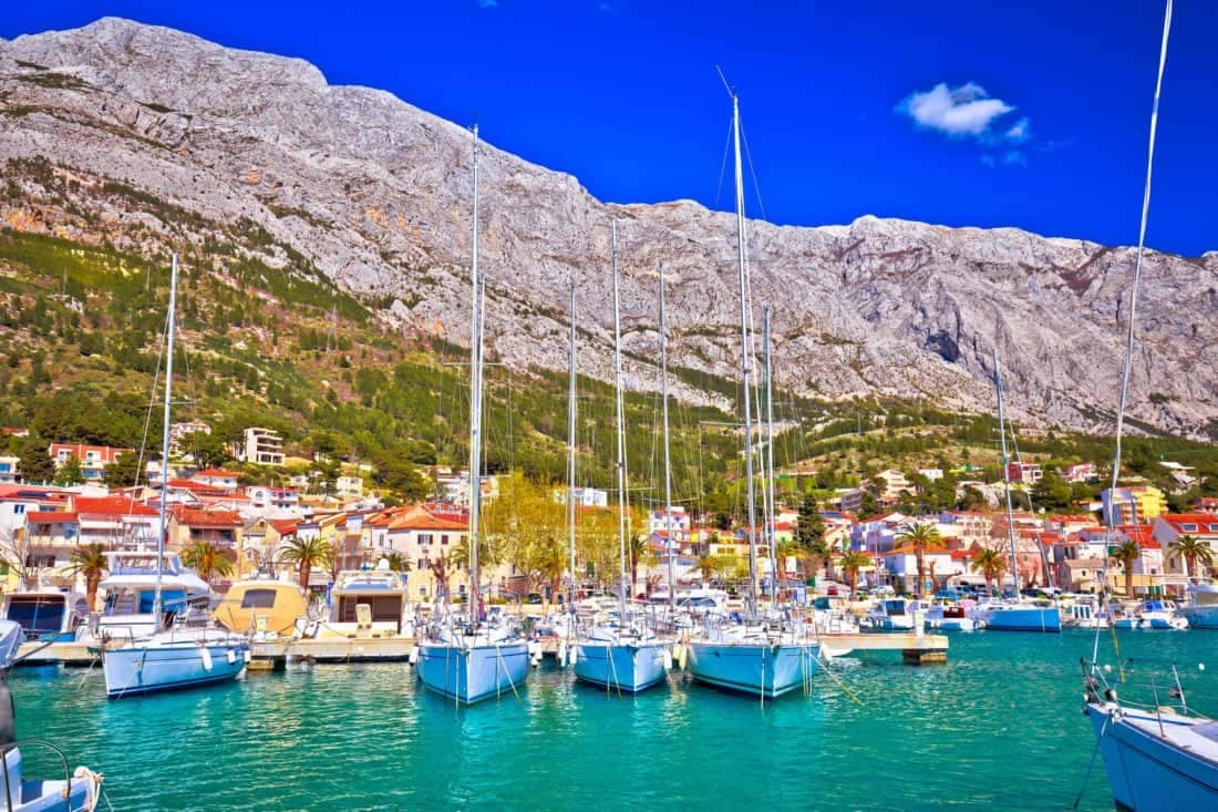 Makarska riviera i Dalmatien; Kroatien