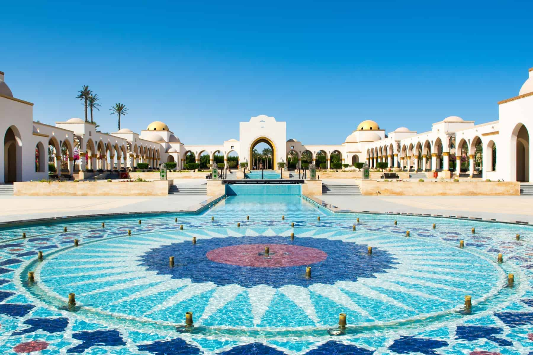Belvedere in old town of Sahl Hasheesh. Egypt