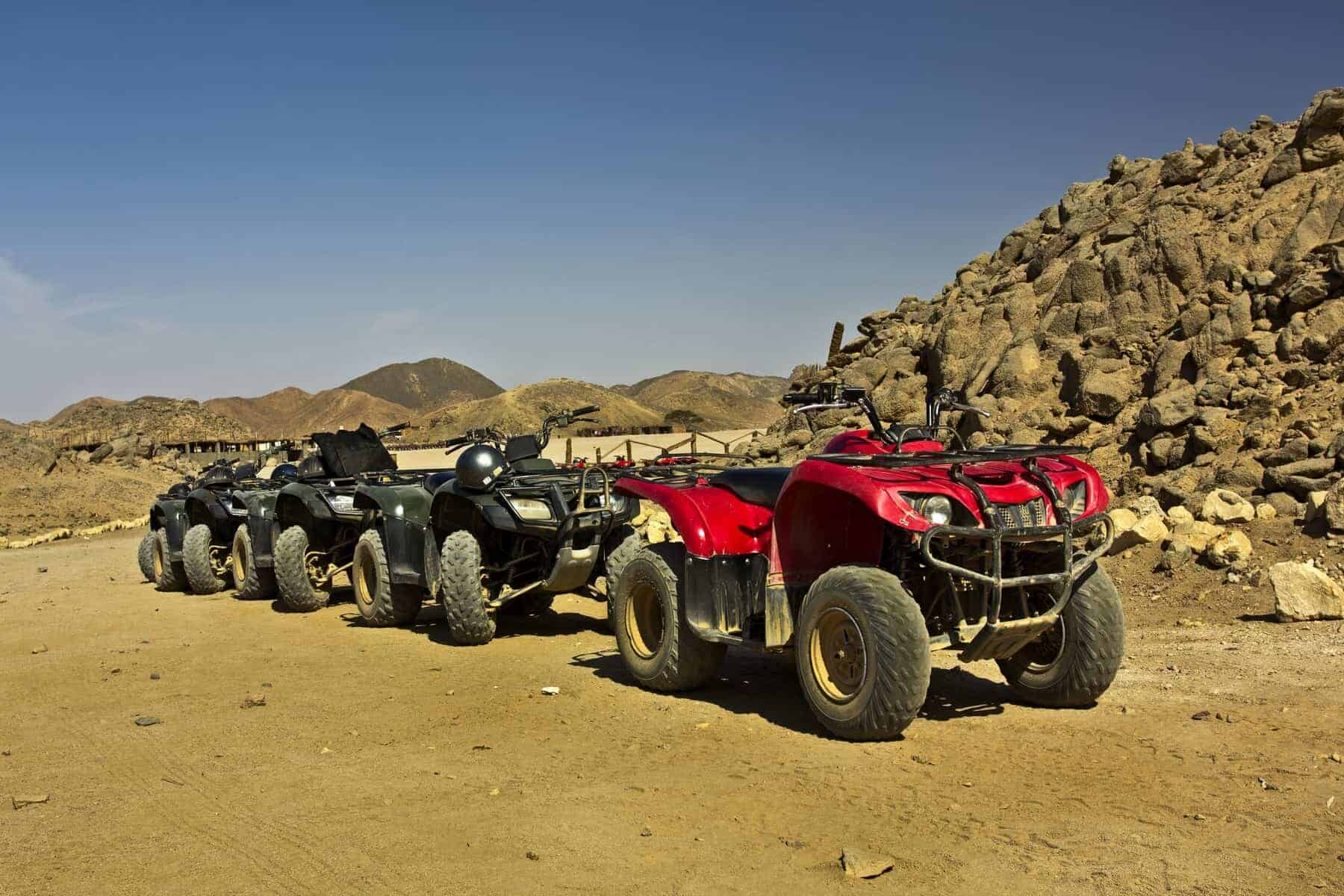 Photo is taken when riding a Quad bike near the city of Hurghada