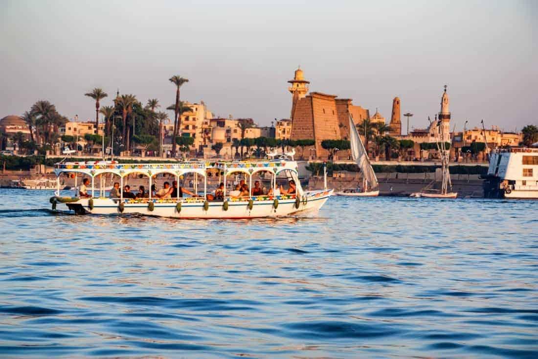 Nilen ved Luxor, en levende flod