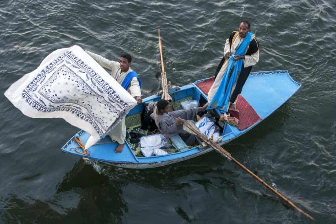 Nilen I egypten fra vandet