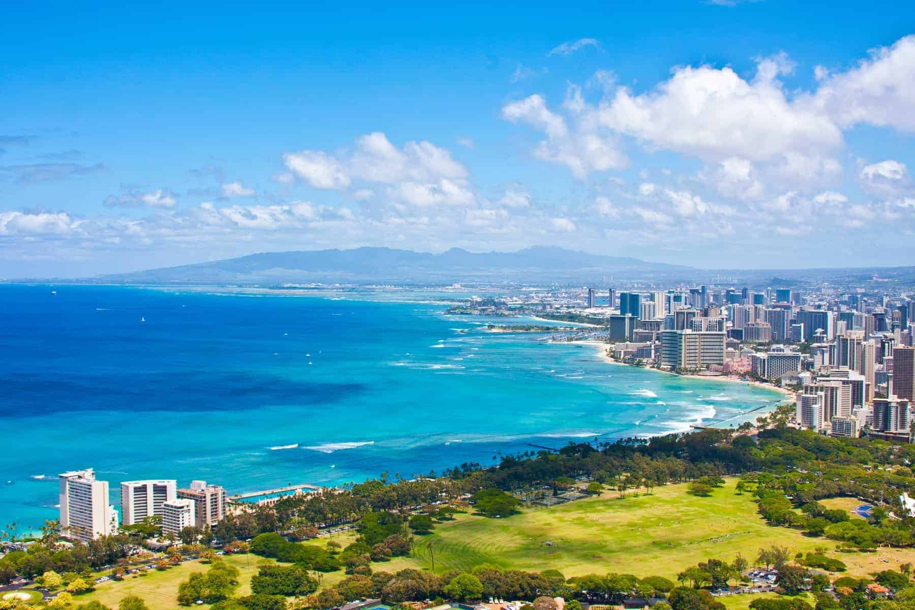 Oahu skyline, Hawaii