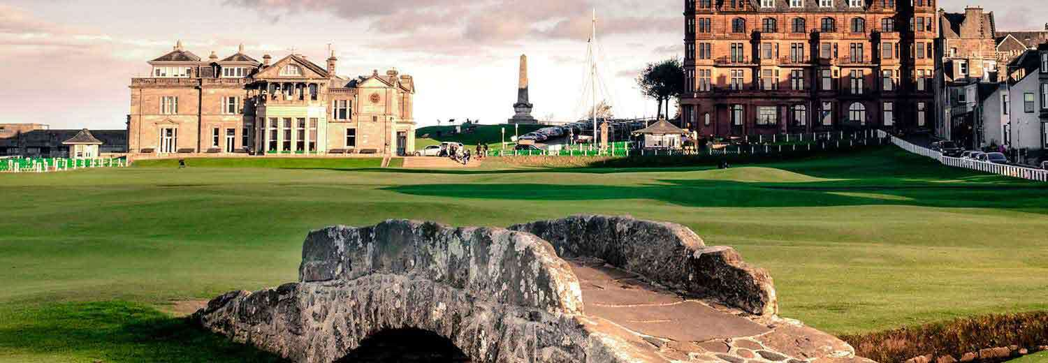 The-Old-Course-St-Andrews, the famous bridge at 18th.