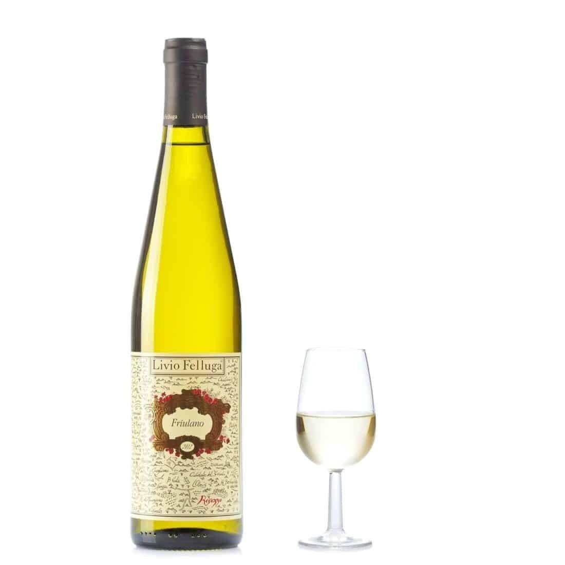 Eksempel på fremragende hvidvin fra Friuli felluga-friulano