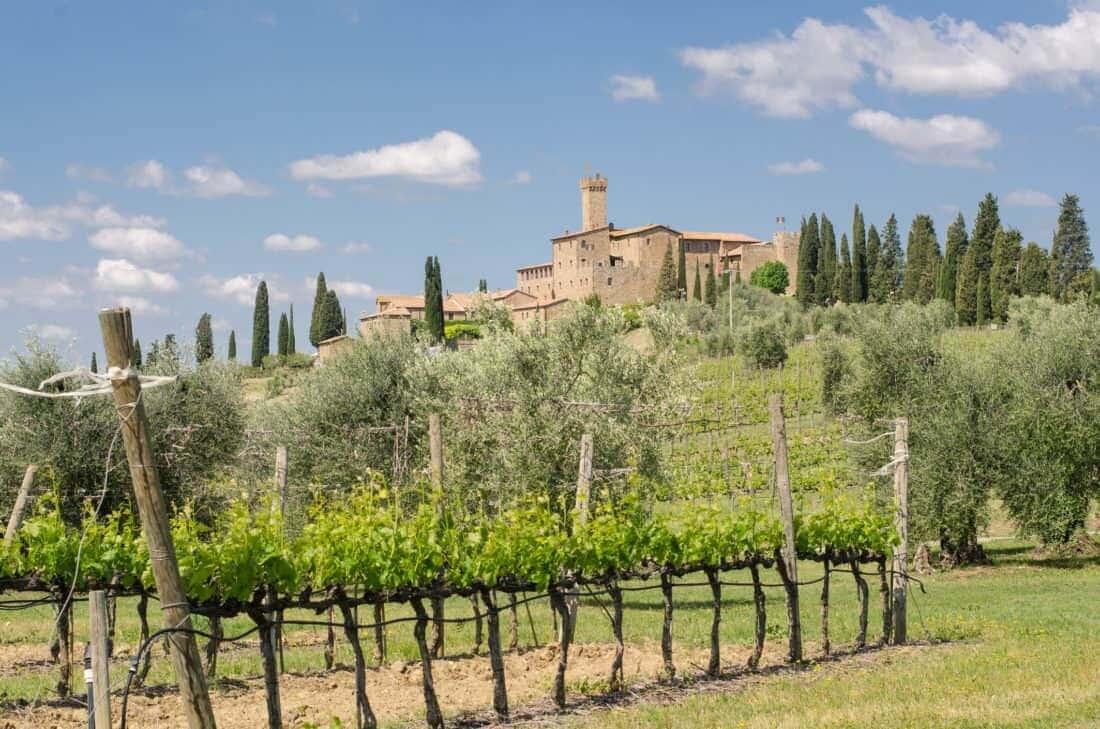 Montalcino i Toscana