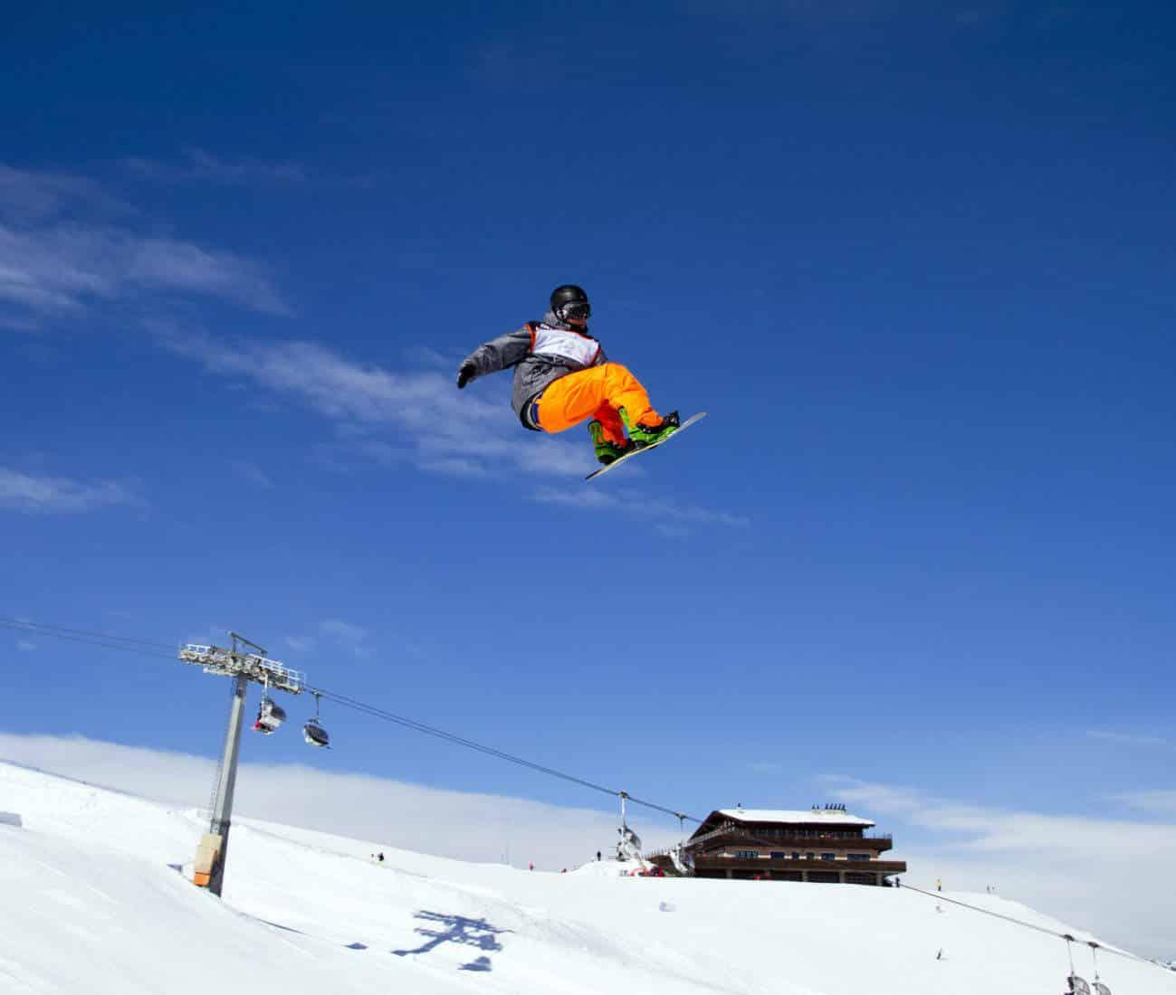 Livigno Snowboard jump