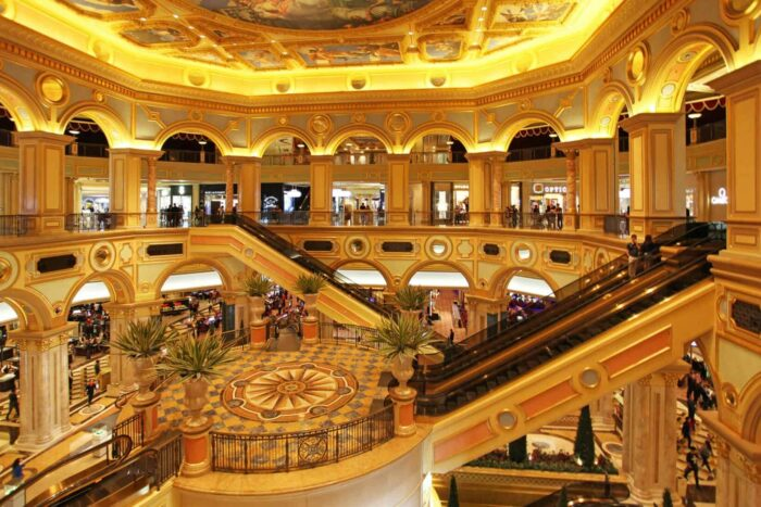 Venetian casino in Macau. Landmark, interior