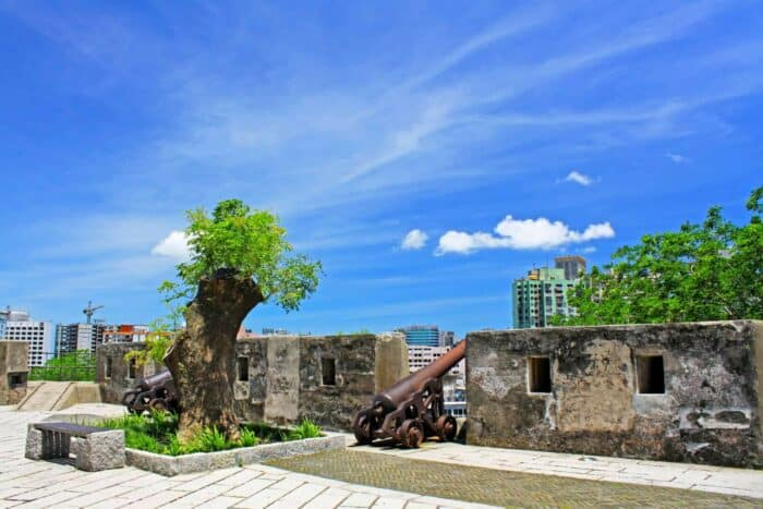 Monte Fort, Macau, China. Canons, attractions