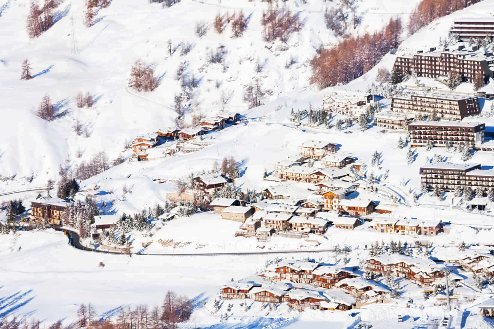 Sestriere village from above