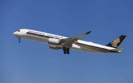 Fra Singapore til Seattle uden stop.Singapore Airlines Airbus A350-900