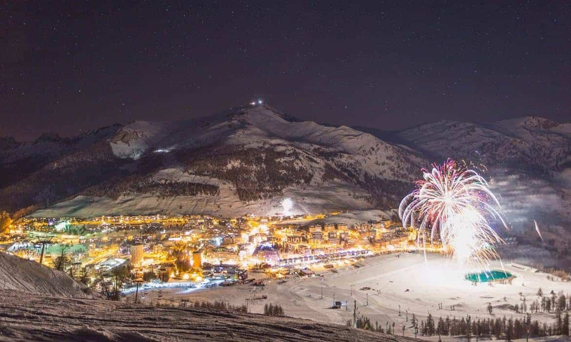 Sestriere by night