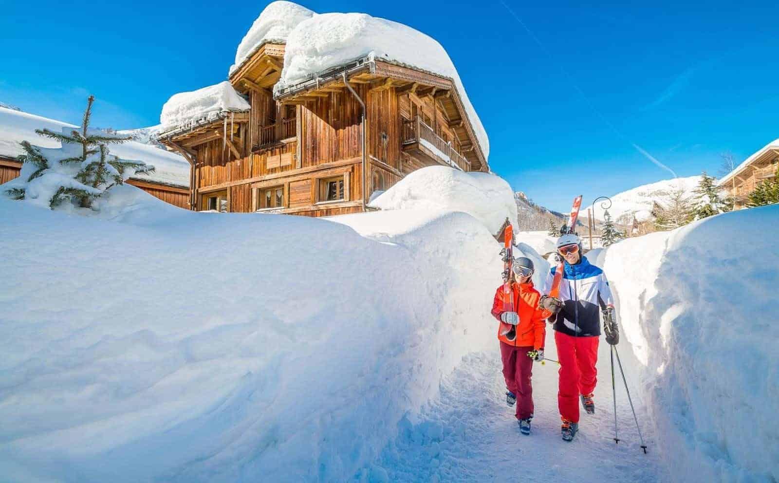 Val d'Isere, top skidestination, her Danski