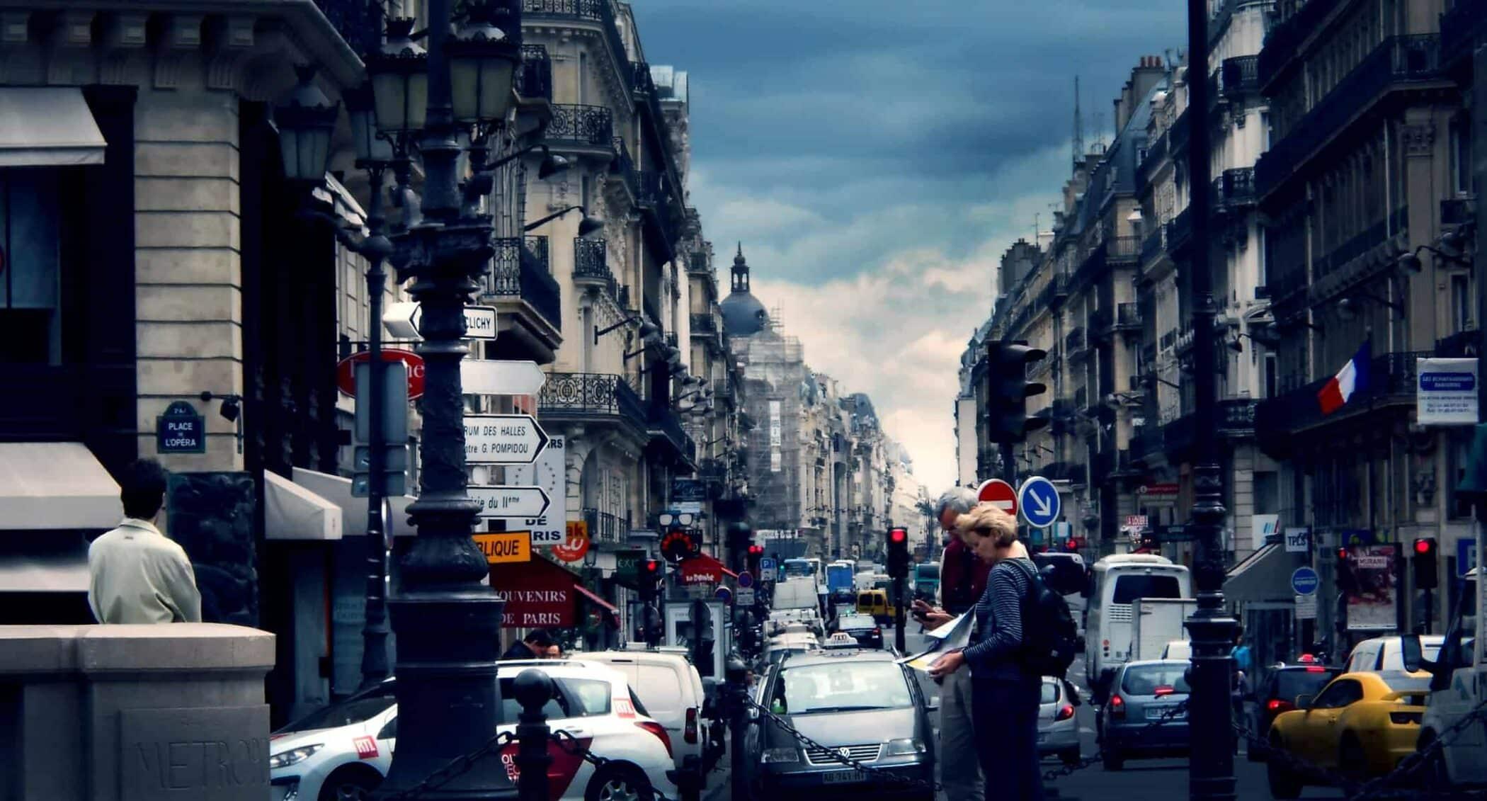 Opera, Paris typisk gadeforløb,