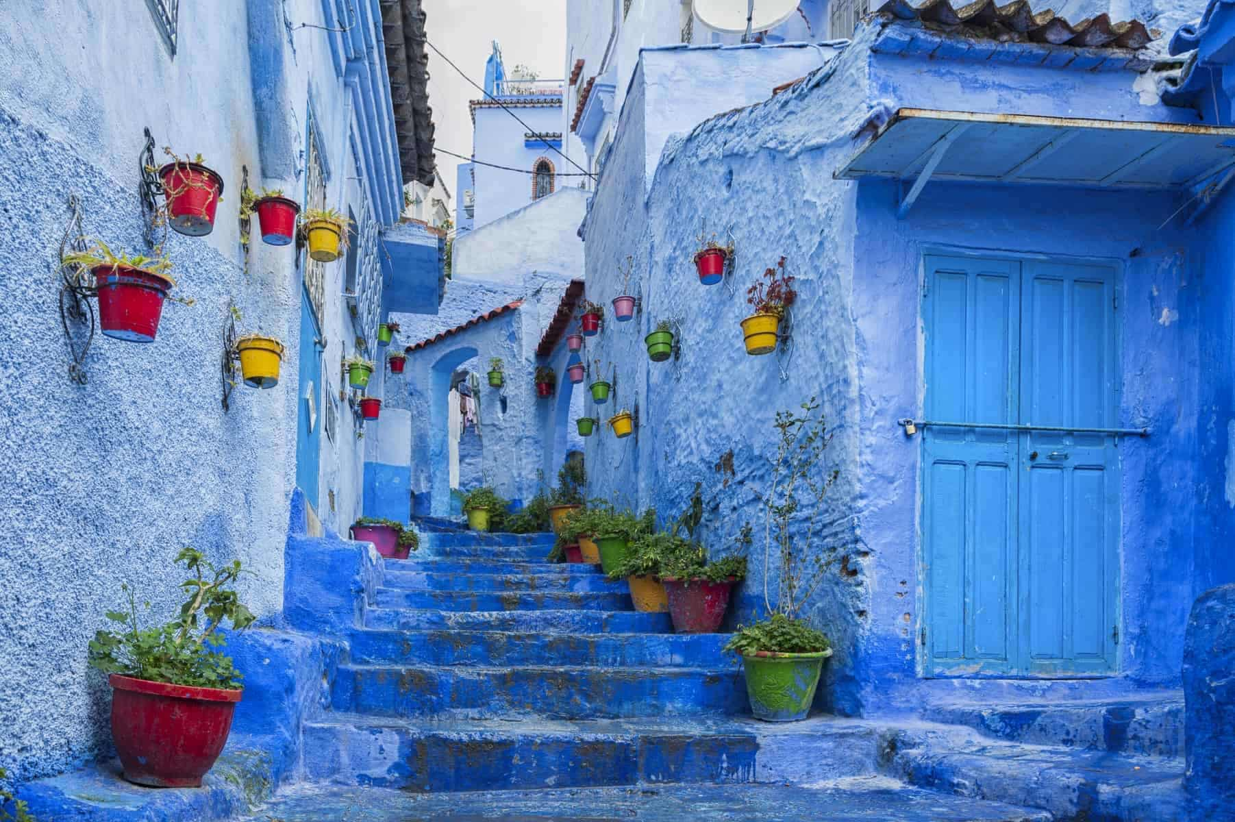 The beautiful blue medina of Chefchaouen, the pearl of Morocco - North Africa