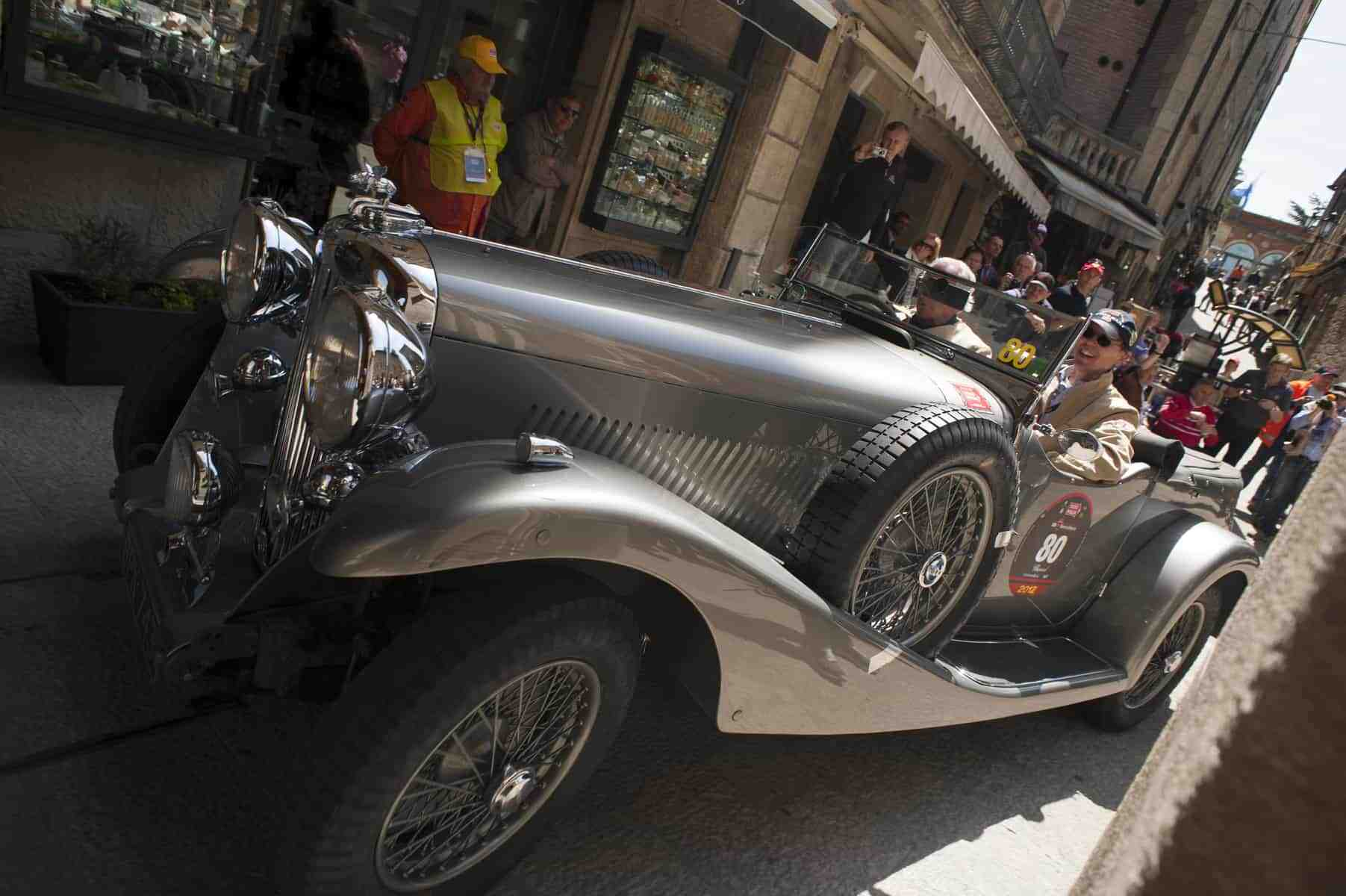 san marino, italy, 18 may 2012, mille miglia rally for historic cars