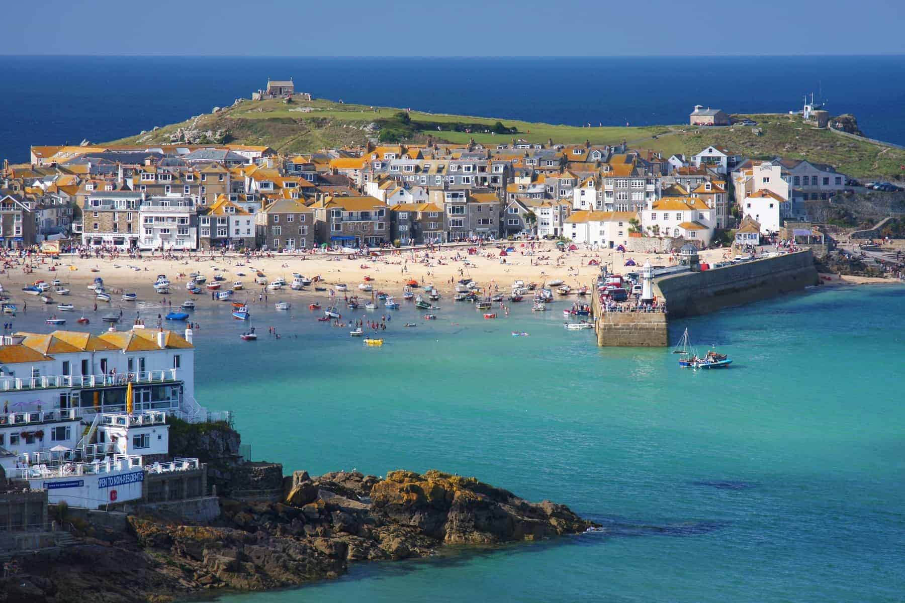 The seaside village of St Ives in Cornwall