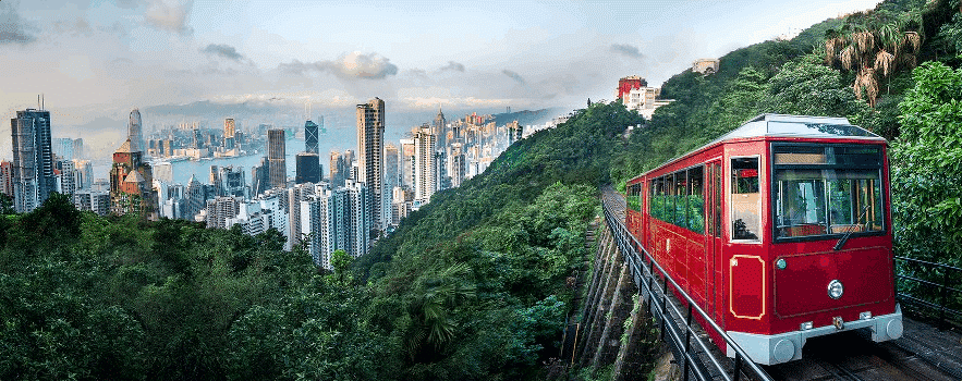 Hong Kong, the peak, tramway